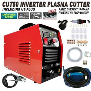 Plasma Cutter CUT50 Digital Inverter 110 220V Dual Voltage Plasma Cutter US $189.91