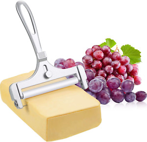 Stainless Steel Wire Cheese Slicer Adjustable Thickness Cheese Cutter for Soft,