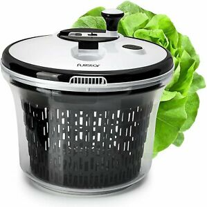 Salad spinner lettuce dryer large - with bowl and colander basket. BPA free...
