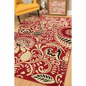 Westfield Home Montclaire Ginger Transitional Blue Area Rug Red 7'10