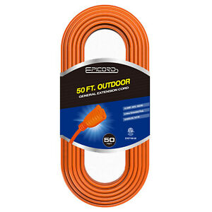 50ft Outdoor Extension Cord Heavy Duty Power Extension Cord