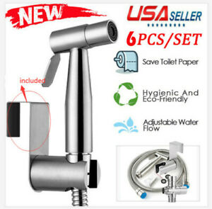 CleanSpa Hand Held Bidet Shattaf Stainless Steel Hygienic Wash Spray Shower Head