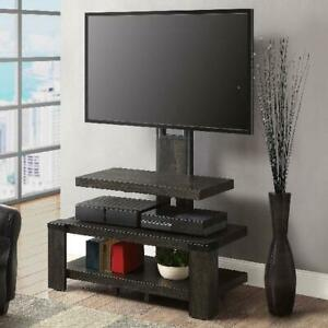 TV Mount Entertainment Stand 55 Inch 3-Tier with Floater Gaming Accessories NEW