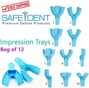 Dental Impression Trays Perforated Plastic Autoclave CHOOSE SIZE 1 Bag of 12 $6.99