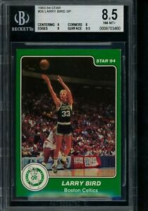 1983 84 Star #26 Larry Bird SP BGS 8.5