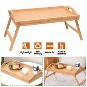 Bamboo Folding Lap Serving Tray Desk Bed Tea Food Breakfast Dinner TV Table
