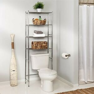 Over The Toilet Storage Bathroom Space Saver Washing Machine Cabinet Rack Shelf
