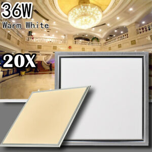 20X 36W LED Recessed Ceiling Panel Down Light Warm White Bulb Ultra-thin Lamp