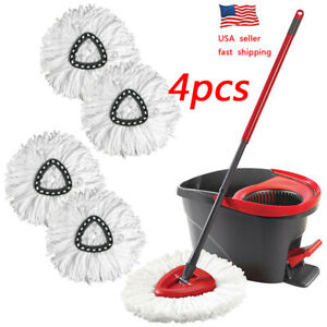 4/2/1X Replacement Head Easy Home Cleaning Mopping Wring Spin Mop Refill O-Cedar