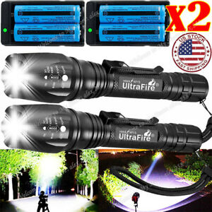 350000LM T6 LED Rechargeable High Power Torch Flashlight Light Lamps