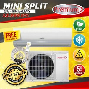 9000 BTU Air Conditioner Mini Split AC System Ductless COLD ONLY 220V 60HZ