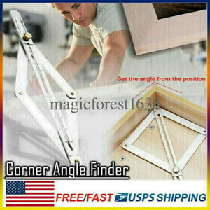 Corner Angle Finder Tool Ceiling Artifact Square Protractor for Woodworking $7.29