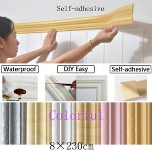 3D Waterproof Self Adhesive Foam Panels Wall Sticker Decal Home Room DIY Decor