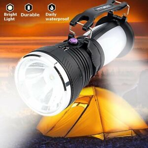 Solar Outdoor Rechargeable Camping Lantern Light LED Hand Lamp Flashlight Torch