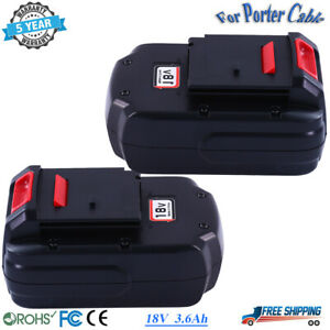 2 Pack 18V Replace For Porter Cable PC18B NI-MH Battery 18 Volt Cordless Tool US