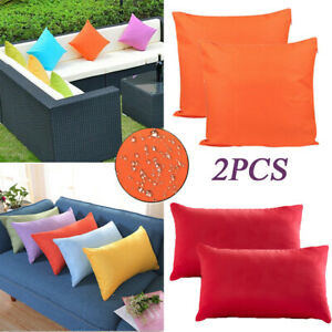 2X Outdoor Waterproof Throw Pillow Cover Cushion Case For Patio Furniture Couch