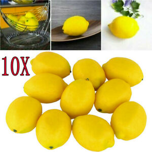 Lifelike Lemon Artificial Fruit Fake Theater Prop Staging Imitation Fruit Decor