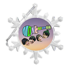 The Monkees Snowflake Multi Colored Light Holiday Christmas Tree Ornament