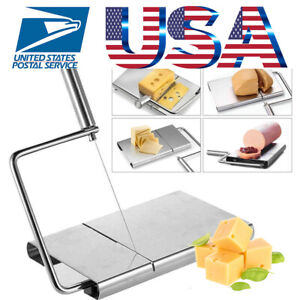 Cheese Butter Cutter Board Stainless Wire Slicer Simple Design Kitchen Hand Tool