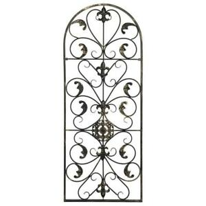 Large Tuscan Wrought Iron Metal Wall Decor Art Rustic Vintage Garden Patio Home $29.95