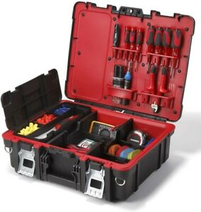 Keter Technician Portable Tool Box Organizer for Small Parts amp; Hardware Storage