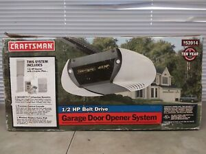Craftsman Garage Door Opener System 1/2 HP Belt Drive 53914 NEW IN DAMAGED BOX