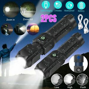 Super Bright LED Headlamp Rechargeable Headlight 5000 Lumens For Hunting 2 Modes $14.48