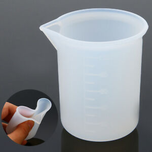 100ml Measuring Cup Silicone Resin Glue Tool Jewelry Make DIY Craft Grips # US