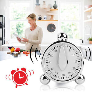 60 Minutes Kitchen Cooking Reminder Mechanical Timer Count Down Alarm Clock