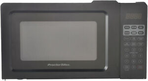 Small Table Top Digital Microwave Oven 0.7 Cu.ft Black Defrosts and Cooks Food