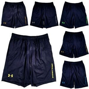 Mens Under Armour Shorts Basketball Athletic Gym Navy Blue M $22.73