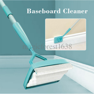 Baseboard Buddy Cleaning Mop Walk Glide Extendable Microfiber Dust Brush US