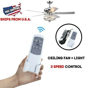 Universal Wireless Remote Control and Receiver Kits for Ceiling Fan Lamp