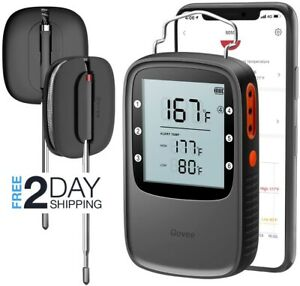 Govee Grill Thermometer Bluetooth Digital BBQ Thermometer Clock Timer with 2 ...