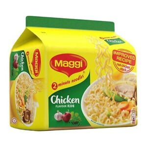 MAGGI 2 Minute Chicken Flavour Noodles (5 packs x 78g per package)