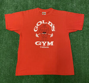 Vintage Golds Gym California T Shirt 80s Size XL Single Stitch USA Made $56.28