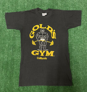 Vintage Golds Gym California T Shirt 80s Size S Single Stitch USA Made $56.28