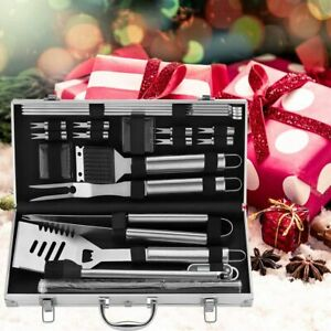 BBQ Accessories Grill Set Tools Portable Bag 23pc Must-Have with Thermometer