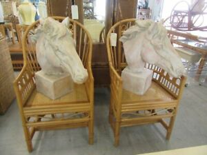 Pair of Large Horse Bust Sculptures $795.00