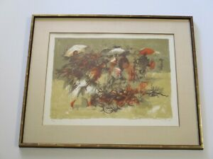 SIMBARI ORIGINAL LITHOGRAPH ABSTRACT EXPRESSIONISM ITALIAN LIMITED MODERNIST $825.00