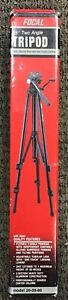 """Focal 55"""" Two Angle Tripod w Geared Rise amp; and 1 Touch Locking #20 08 86 NEW $78.00"""