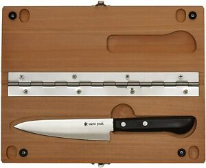 Snow peak Cutting Board and Kitchen Knife set:L  JAPAN