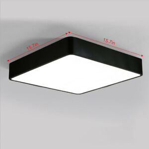 LED Ceiling Light 15.7in Modern Acrylic Square Flush Mount Lamp Lights Fixture