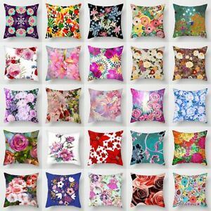 Vintage Flower Printing Throw Pillow Case Sofa Cushion Cover Home Decor 18quot;x18quot;