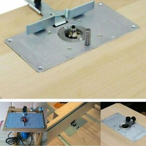 For Woodworking Benches Aluminum Router Table Insert Plate w 4 Rings Screws USA