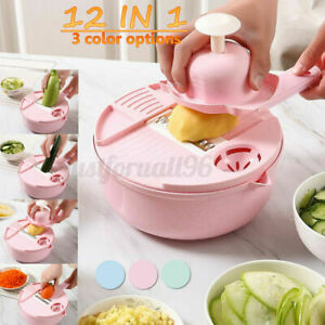 Multi-Function Cutter Vegetable Peeler Slicer Potato Carrot Chopper Steel Blades