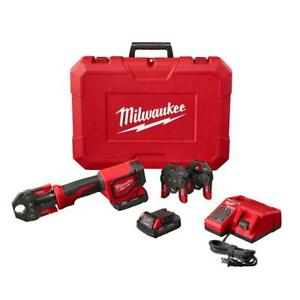 Milwaukee Press Tool Kit 3-PEX Crimp Jaws 18-Volt Lithium-Ion Batteries Charger  $813.22