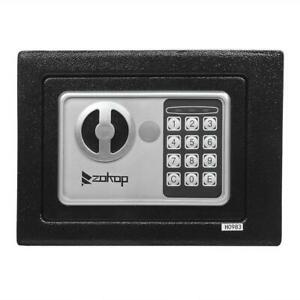Electronic Digital Keys Mini 9quot; Safe Security Box Gun Money Home Hotel Office $23.99