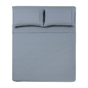Microfiber Solid 3 Pc Twin Sheet Set Silver Silver Twin