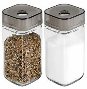 Salt and Pepper Shakers Set with Adjustable Pour Holes - Premium Salt and Peppe